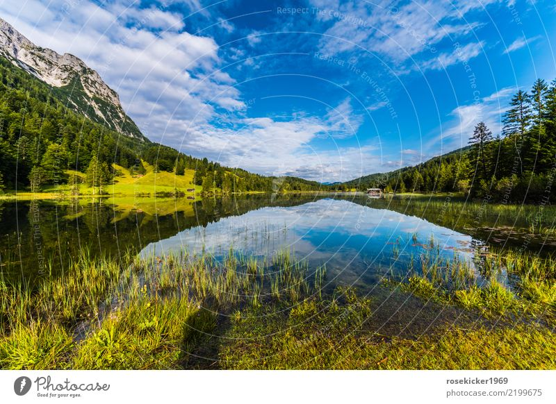 alpine lake Harmonious Swimming & Bathing Fishing (Angle) Vacation & Travel Trip Far-off places Freedom Mountain Hiking Environment Nature Landscape Water Sky