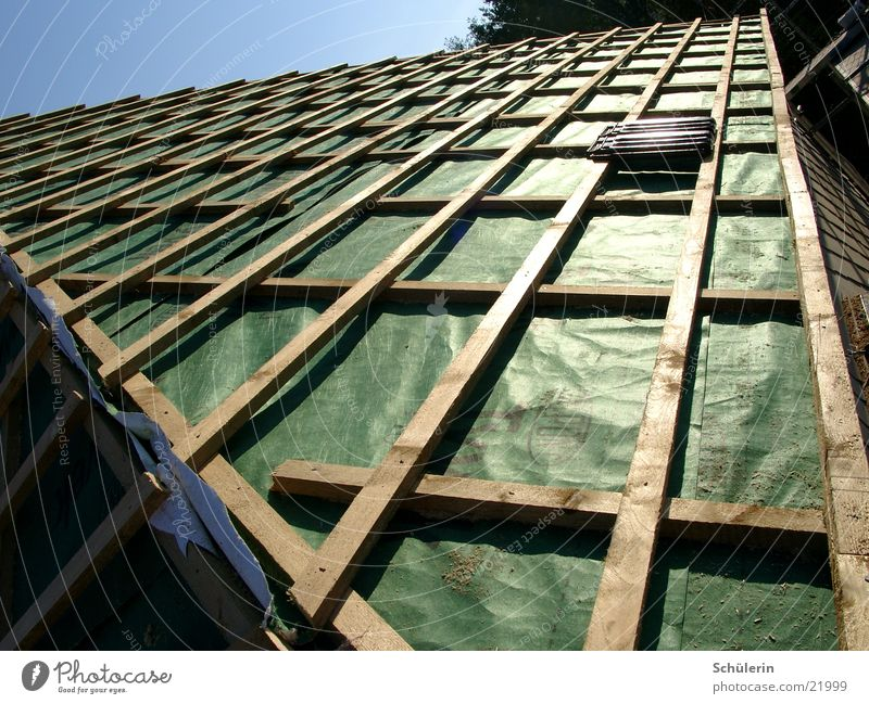 roof Roof House (Residential Structure) Packing film Brick Architecture battens underlay membrane Bricks missing