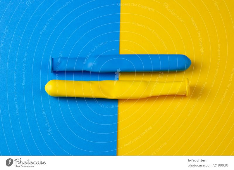 cohesion Balloon Sign Together Blue Yellow Belief Religion and faith Attachment Yin and Yang Background picture Equal Balance Infinity Colour photo