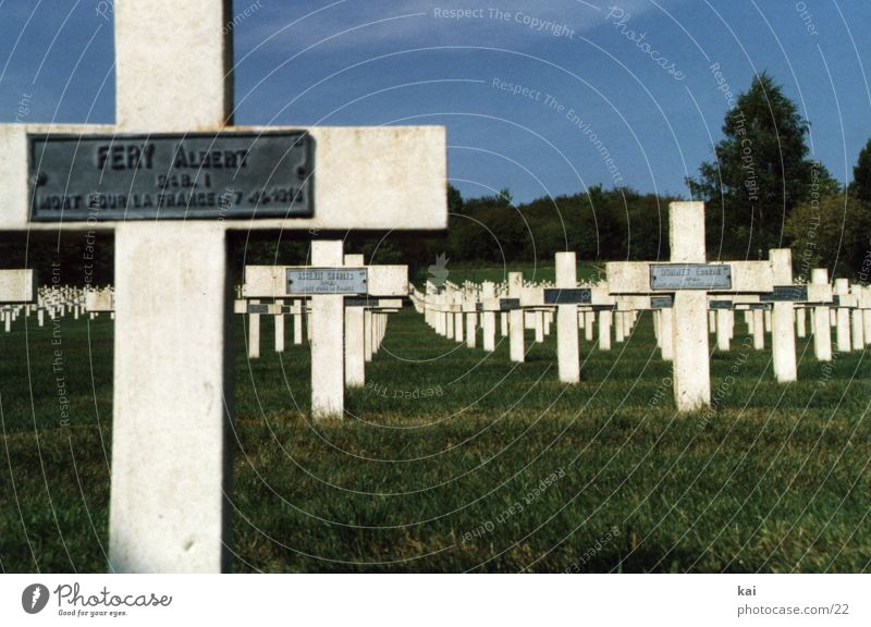 war graves France World War Verdun Grave Soldier Cemetery Tomb Christian cross Military cemetery Death Grief Historic Remember