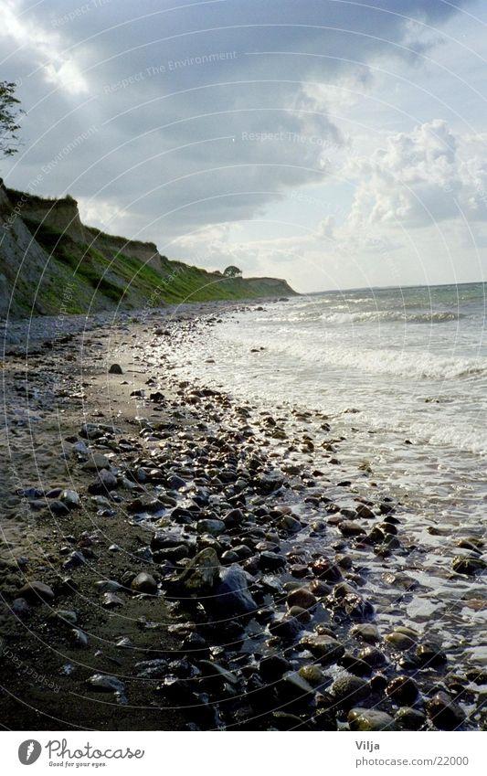 stony beach Beach Ocean Light Stone