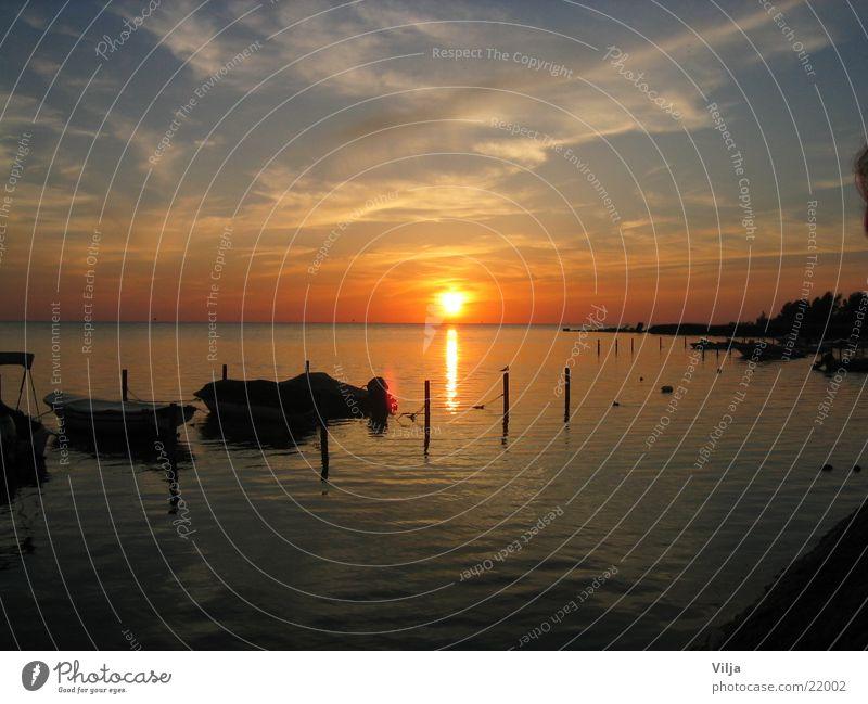 Dutch evening mood Watercraft Ocean Sun
