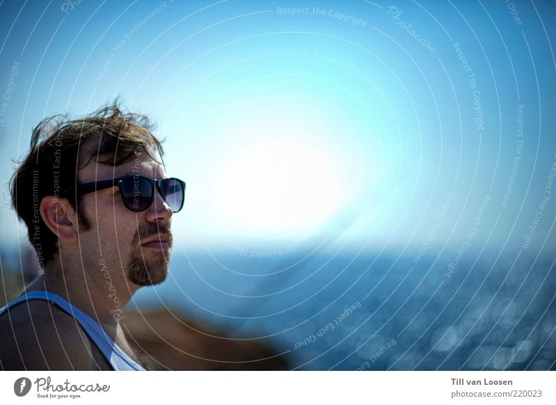 Water Vacation & Travel Summer Beach Ocean Face Far-off places Freedom Hair and hairstyles Air Weather Waves Horizon Lifestyle Bay