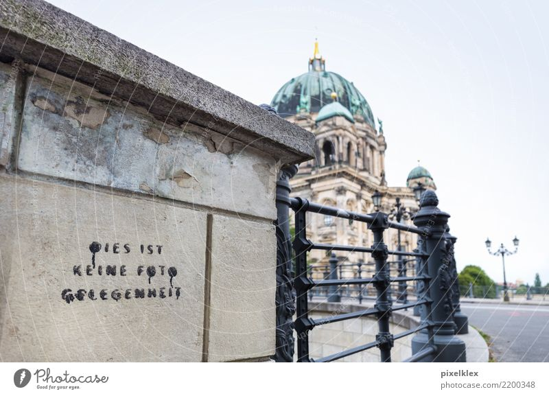 No photo opportunity Vacation & Travel Tourism Sightseeing City trip Downtown Berlin Germany Europe Town Capital city Church Dome Manmade structures Building