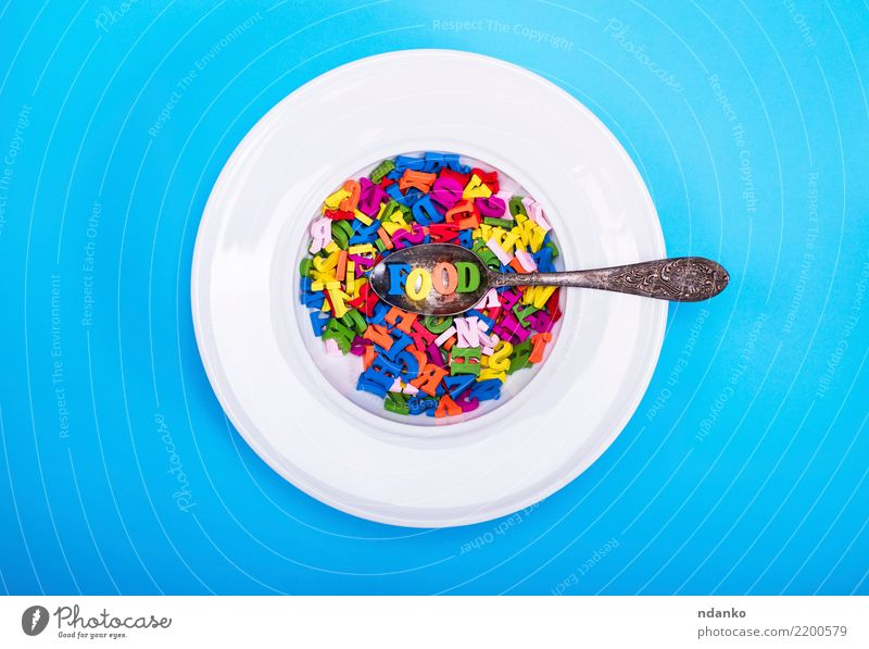 multicolored letters of the English alphabet Blue Colour Green White Red Dish Eating Yellow Wood Think Pink Above Design Nutrition Decoration Information