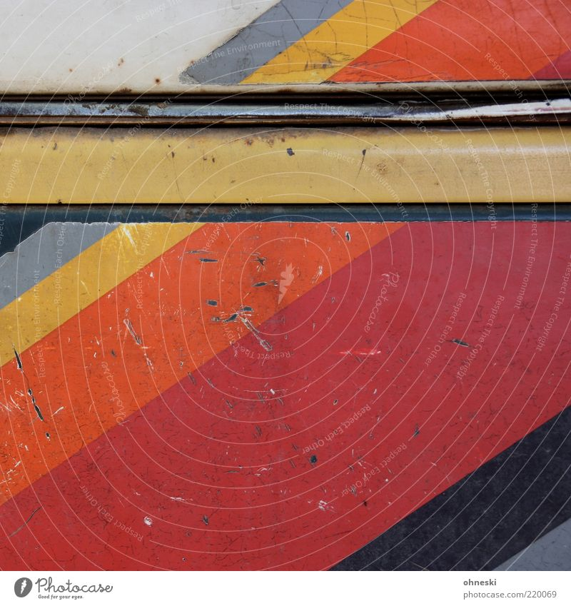 streaked Design Dye Metal Old Decline Time Stripe Colour photo Multicoloured Abstract Pattern Copy Space top Rust Varnished Striped Tin Deserted