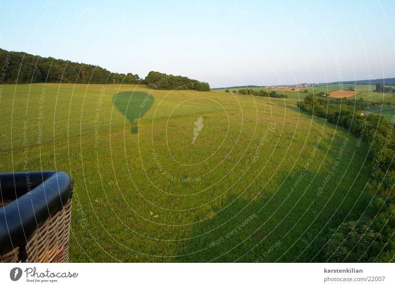 Meadow Field Aviation Vantage point Hot Air Balloon Shadow play Evening sun Balloon flight