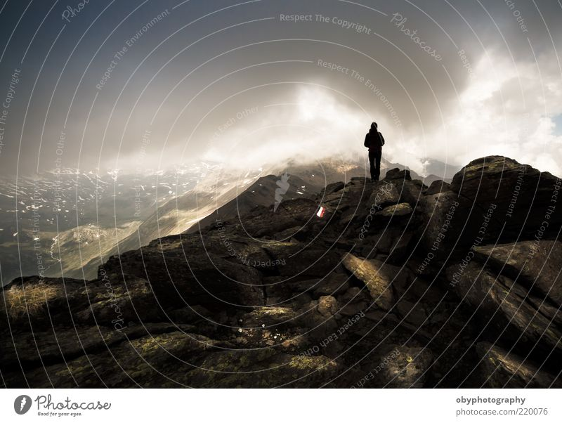 Vertical Limits Sky Black Clouds Loneliness Autumn Mountain Dream Landscape Air Brown Weather Rock Earth Communicate Stand Climbing