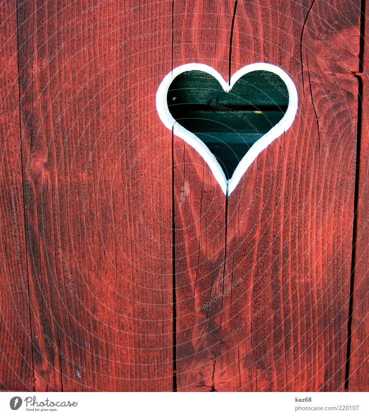 heart Wood Heart Red Love Infatuation Romance Bavaria Country house Friendliness Affection Emotions Valentine's Day Copy Space bottom Copy Space left
