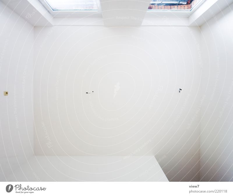 Beautiful White Wall (building) Above Window Wall (barrier) Line Bright Room Design Fresh Perspective Esthetic New Simple Pure