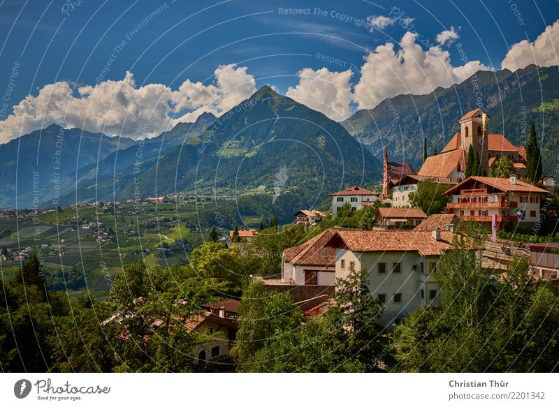 Schenna South Tyrol Life Harmonious Well-being Contentment Senses Relaxation Vacation & Travel Tourism Trip Sightseeing City trip Summer vacation Mountain