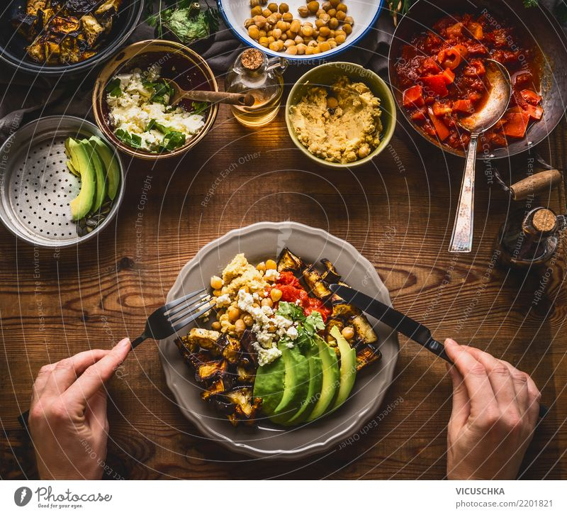 Healthy Eating Hand Food photograph Lifestyle Feminine Style Design Nutrition Table Herbs and spices Vegetable Organic produce Crockery Bowl