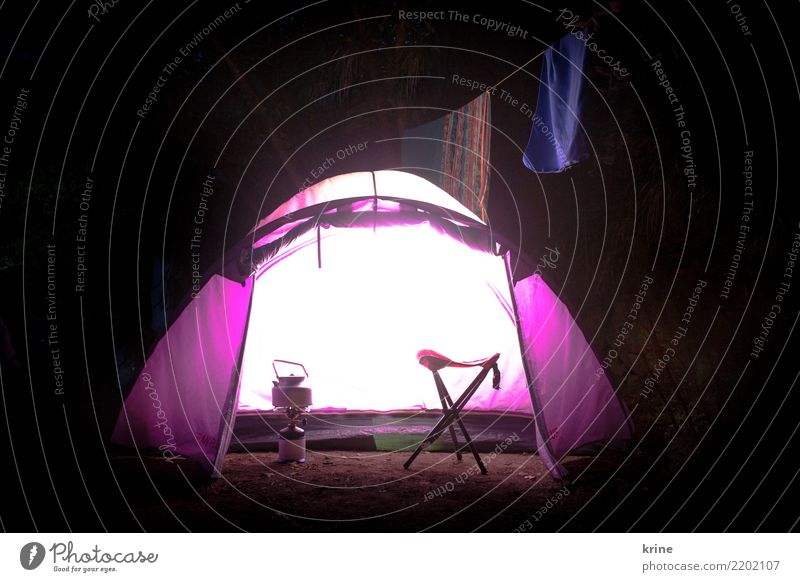 light tent Adventure Freedom Camping Nature Summer Illuminate Happiness Bright Violet Happy Anticipation Enthusiasm Optimism Vacation & Travel Time Tent Light