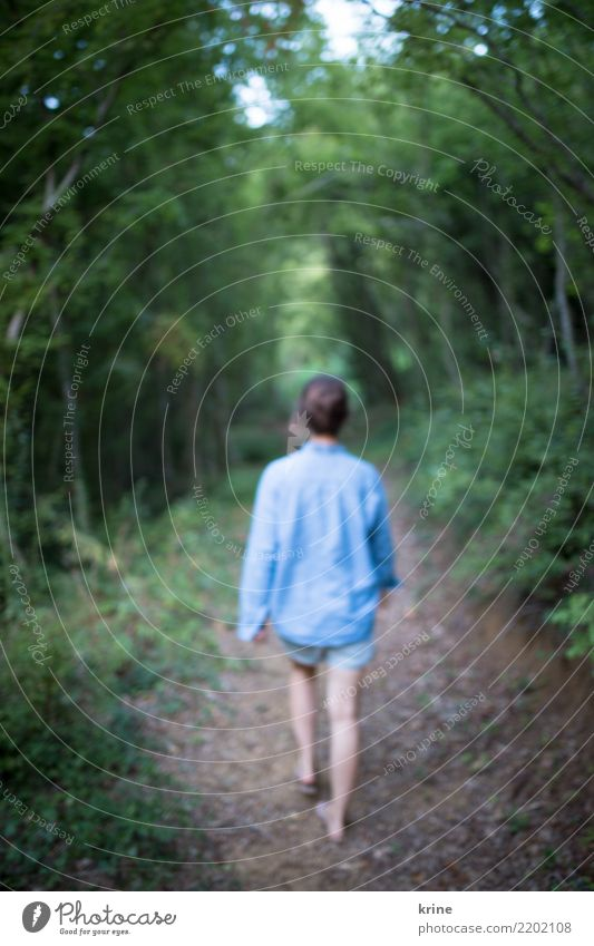 Into the Unknown I Feminine Young woman Youth (Young adults) 1 Human being 18 - 30 years Adults 30 - 45 years Nature Summer Forest Going Dream Esthetic