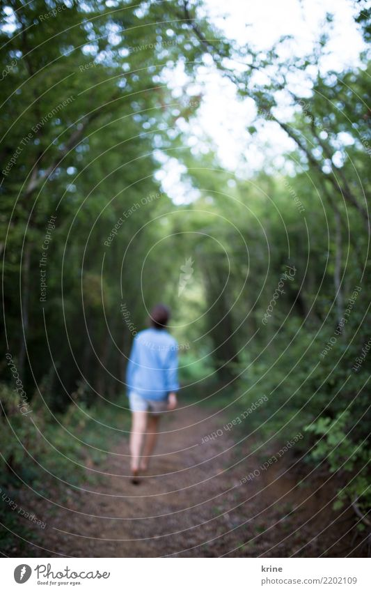 Human being Nature Youth (Young adults) Young woman Loneliness Forest 18 - 30 years Adults Lanes & trails Natural Feminine Going Hiking Dream Threat Curiosity