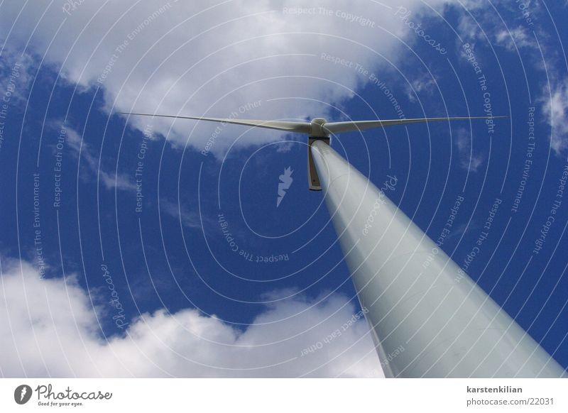 Clouds Landscape Wind Industry Energy industry Electricity Wind energy plant Alternative