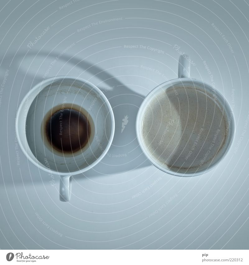 Old Above Dirty Empty Fresh Coffee New Round Change Cup Foam Full Thirst Beverage Bird's-eye view 2