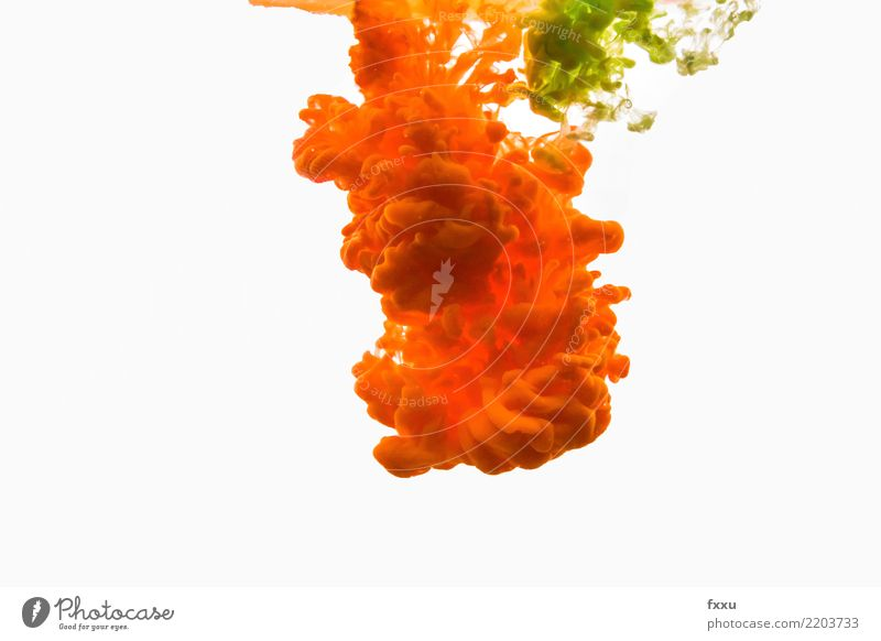 Acrylic paint and water Colour Dye Yellow Green Multicoloured Draw Painting (action, artwork) Watercolors Art Clouds colour cloud Explosion Oil paint Artist
