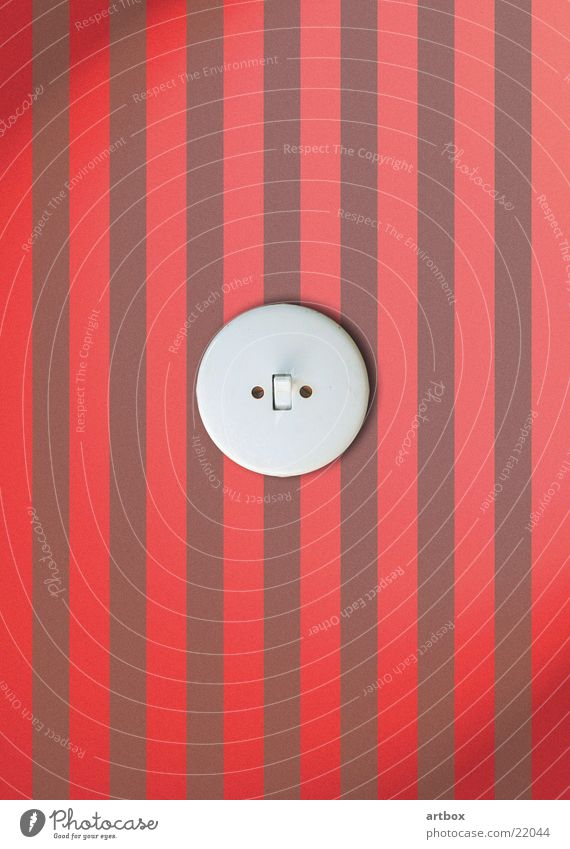 Electricity Retro Living or residing Stripe Wallpaper Switch Electrician Activate Light switch