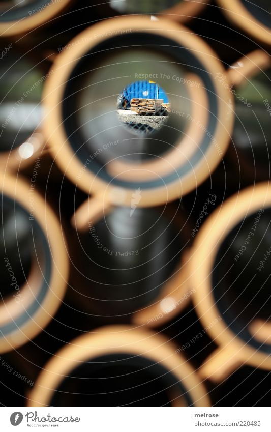 Black Brown Round Construction site Pipe Hollow Material Stack Blur Vista Shadow Tunnel vision Civil engineering