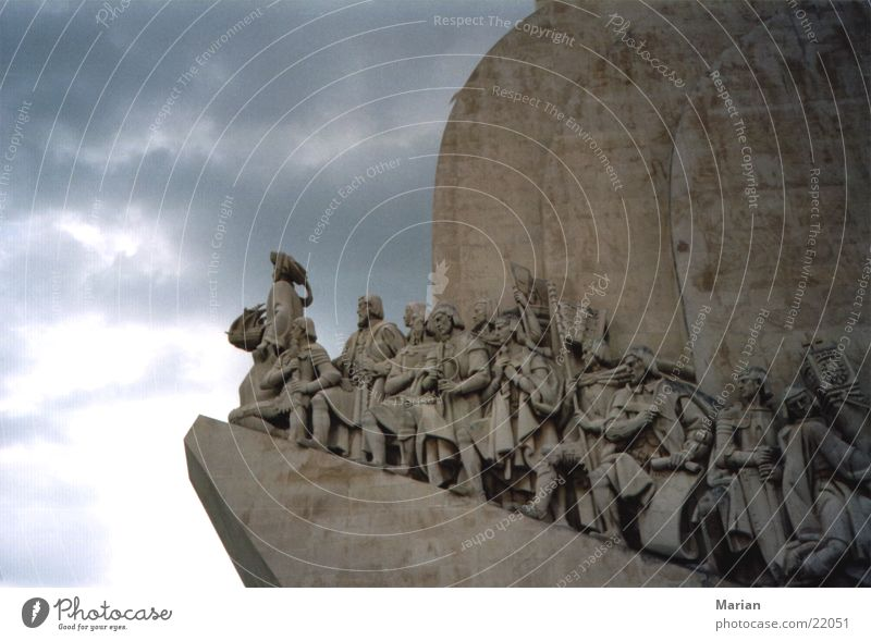 Portugal on the road to the new world Lisbon Monument Clouds Human being Vasco da Gama