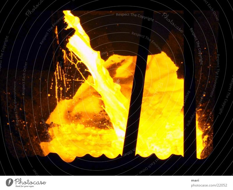 Industry Hot Fluid Steel Steel factory Incandescent