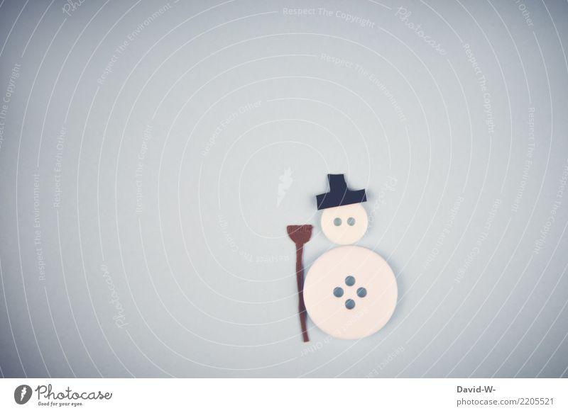 Mr Snowman Lifestyle Human being Infancy Art Artist Environment Nature Winter Climate change Beautiful weather Ice Frost Snowfall Observe Emotions Buttons Cute