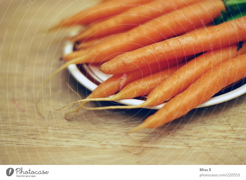 carrot Food Vegetable Nutrition Organic produce Vegetarian diet Diet Fresh Healthy Delicious Carrot Root vegetable Crunchy Colour photo Close-up Deserted