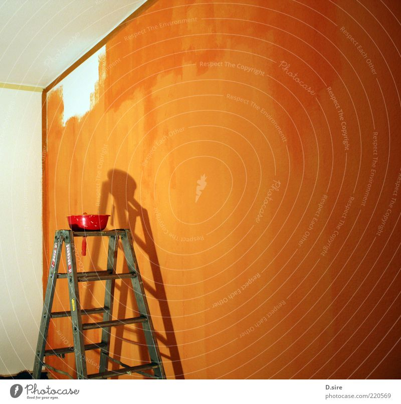 White Red Yellow Work and employment Wall (building) Wall (barrier) Bright Room Orange Flat (apartment) Design Lifestyle Construction site Profession