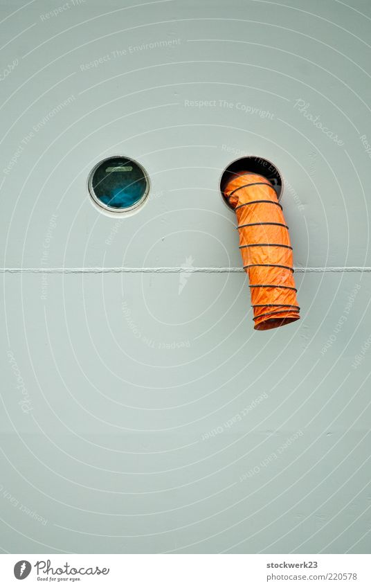 Air Watercraft Orange Metal Funny Glass Exceptional Plastic Bizarre Flexible Spiral Brash Hose Hatch Suspended