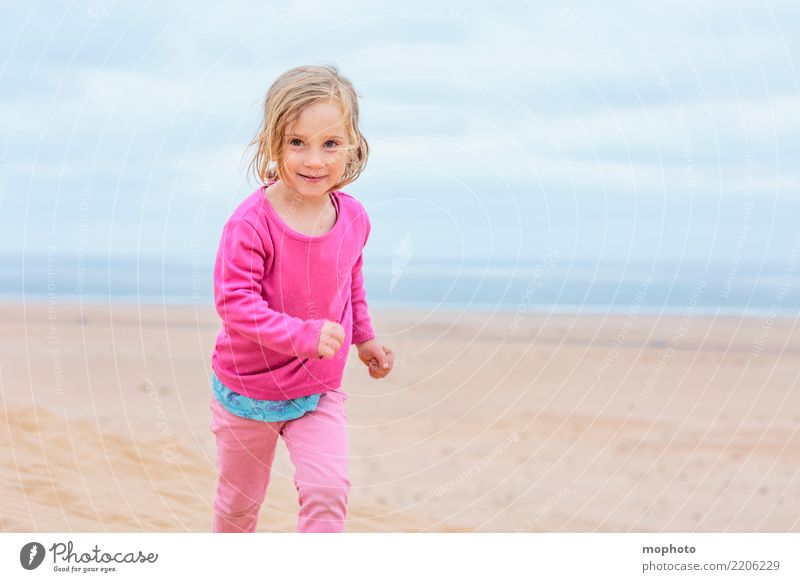 Child Human being Nature Vacation & Travel Landscape Clouds Joy Girl Beach Lifestyle Playing Sand Trip Infancy Happiness Adventure