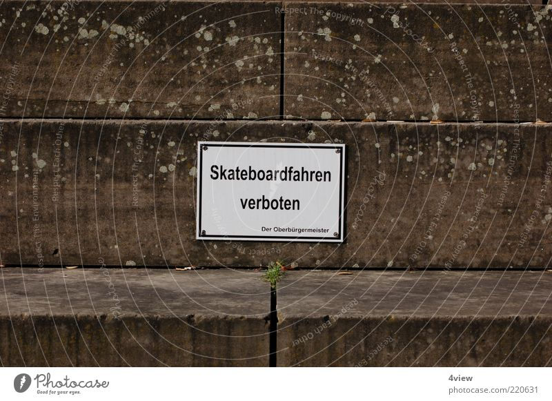 Signs and labeling Stairs Skateboarding Bans Symbols and metaphors Perspective Prohibition sign Stone steps Ball games prohibited