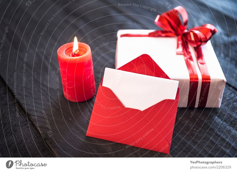 Lit candle and blank letter Elegant Handcrafts Feasts & Celebrations New Year's Eve Birthday Package Cute Surprise candlelight christmas classy empty  card