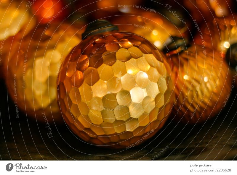 Golden bronze shiny christmas ball Well-being Party Feasts & Celebrations Christmas & Advent Culture Metal Emotions Contentment Love Romance Attentive Caution