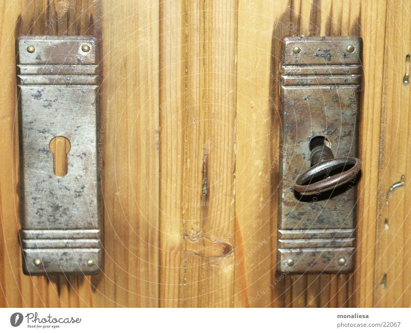 contrasts Door lock Key Converse Wood Living or residing Castle Rust Wood grain woodworm farmer's cupboard