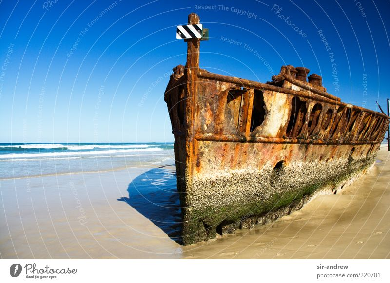 scrapped... (Part 2) Cloudless sky Beautiful weather Coast Beach Ocean Pacific beach Island Fraser Island Navigation Decline Transience Colour photo