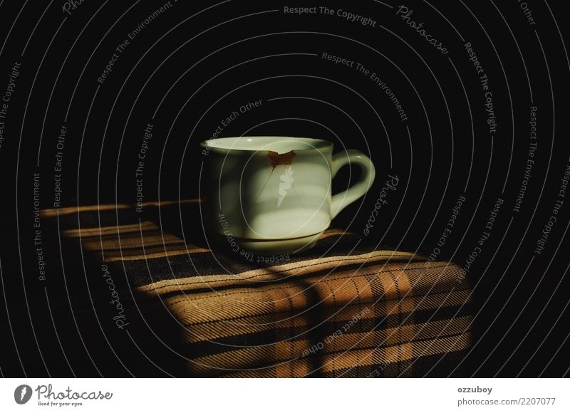 cup of coffee Beverage Drinking Hot drink Coffee Latte macchiato Espresso Tea Cup Mug Simple Brown White Moody Addiction Surrealism Broken Damage Colour photo