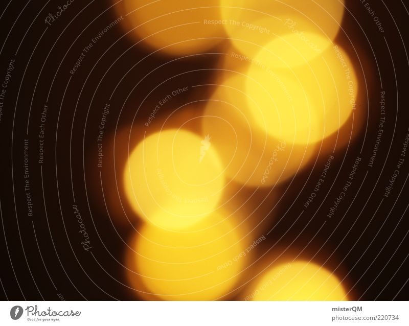 Golden Times... Art Esthetic Light Blur Yellow Circle Point Point of light Round Harmonious Bright Dark Lighting Colour photo Interior shot Experimental