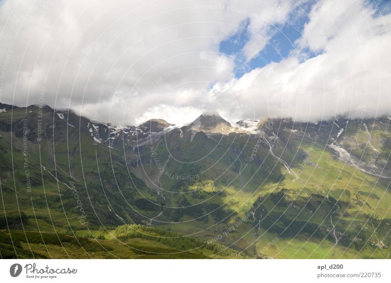 under the clouds Leisure and hobbies Vacation & Travel Summer Summer vacation Mountain Environment Nature Landscape Alps Old Blue Green Climate Panorama (View)