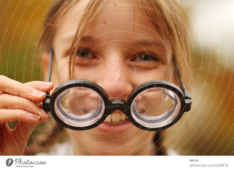 Child Youth (Young adults) Joy Girl Face Funny Healthy Laughter Happy Exceptional Head Blonde Infancy Happiness Eyeglasses Teeth