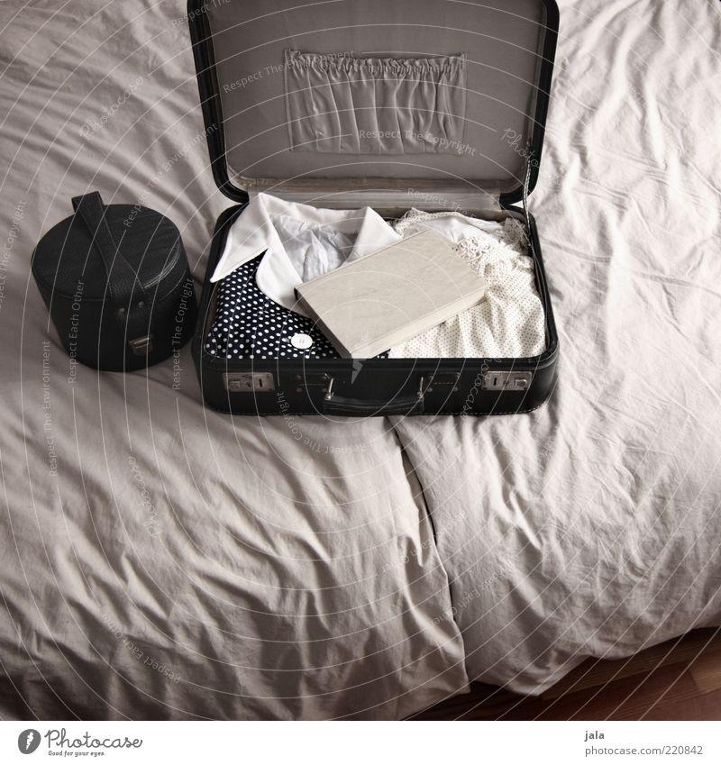 White Vacation & Travel Book Clothing Retro Bed Open Dress Wrinkles Bag Suitcase Print media Beige Grasp Vintage Duvet
