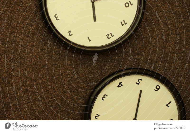 Black Brown Time Break Clock Digits and numbers Stop Forget Late Alarm clock Clock face Closing time Point in time Oversleep Timeless