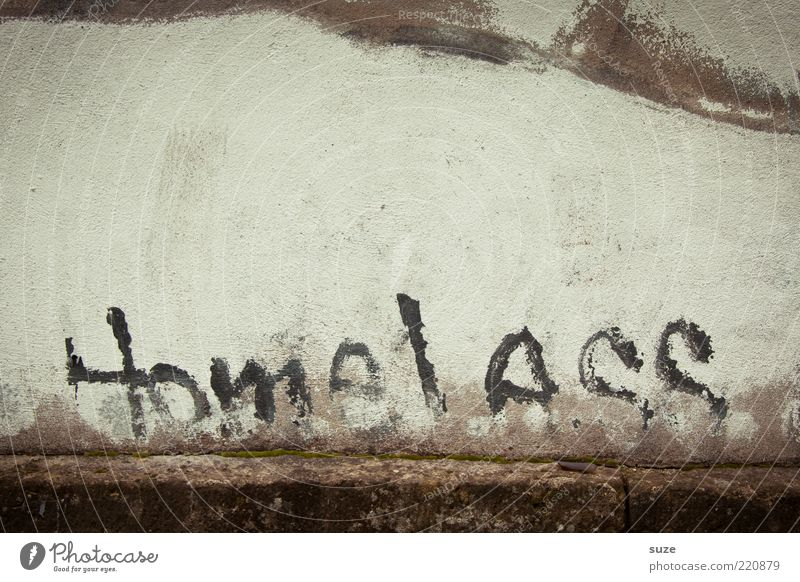 Old Loneliness Graffiti Wall (building) Wall (barrier) Facade Poverty Characters Broken Letters (alphabet) Typography Shabby Plaster Word Text Street art