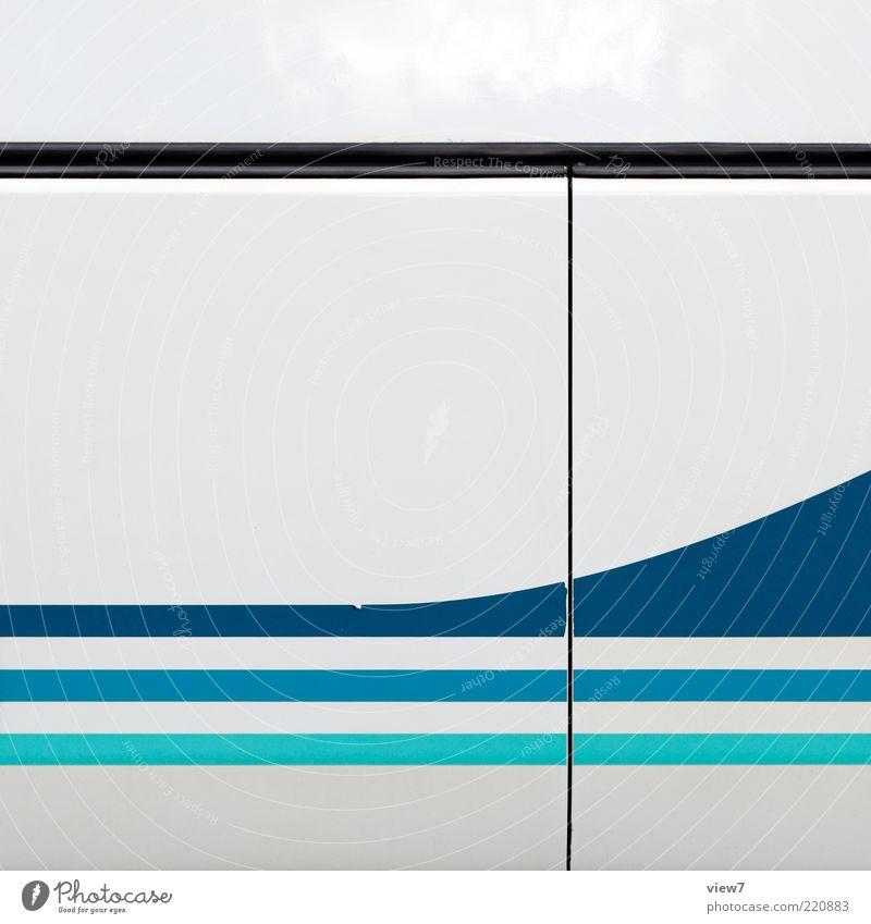 Blue White Colour Cold Metal Line Elegant Arrangement Design Modern Esthetic New Stripe Uniqueness Simple Pure