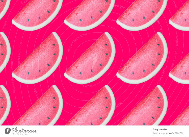 Pattern red watermelon on background. Flat lay, top view Nature Summer Colour Green White Red Natural Copy Space Fruit Nutrition Fresh Creativity Delicious