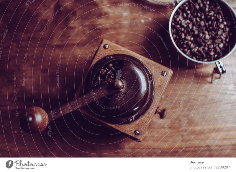Joy Life Contentment Retro Table Uniqueness Simple Coffee Beverage Serene Hot Flexible Espresso Beans Comforting Mill