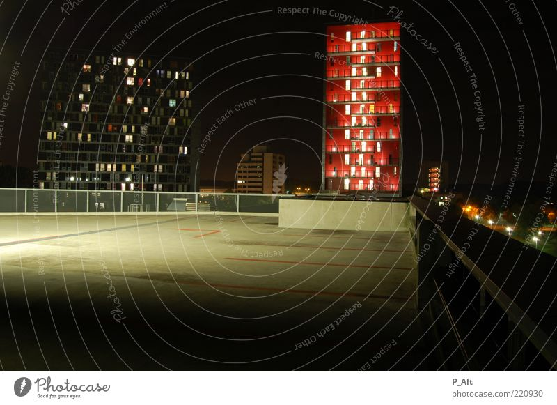 Red House (Residential Structure) Wall (building) Window Architecture Wall (barrier) Building Metal Glass Concrete Facade High-rise Design Manmade structures