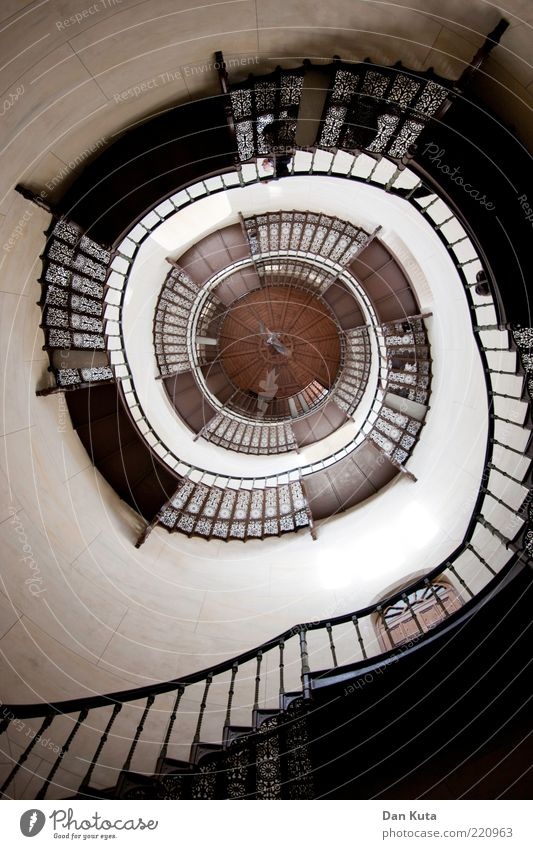 ascension struggle Castle Tower Architecture Stairs Rotate Complex vicious circle Go up Staircase (Hallway) Concentric Metal Banister Ancient Baroque Cast iron
