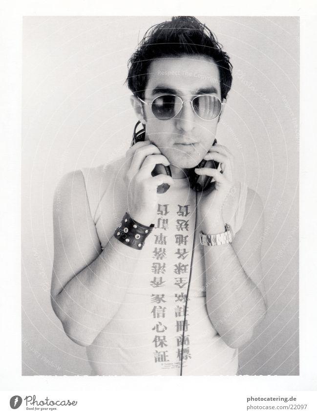 Music Headphones Eyeglasses Polaroid Match Man Asian font Characters Cool (slang)