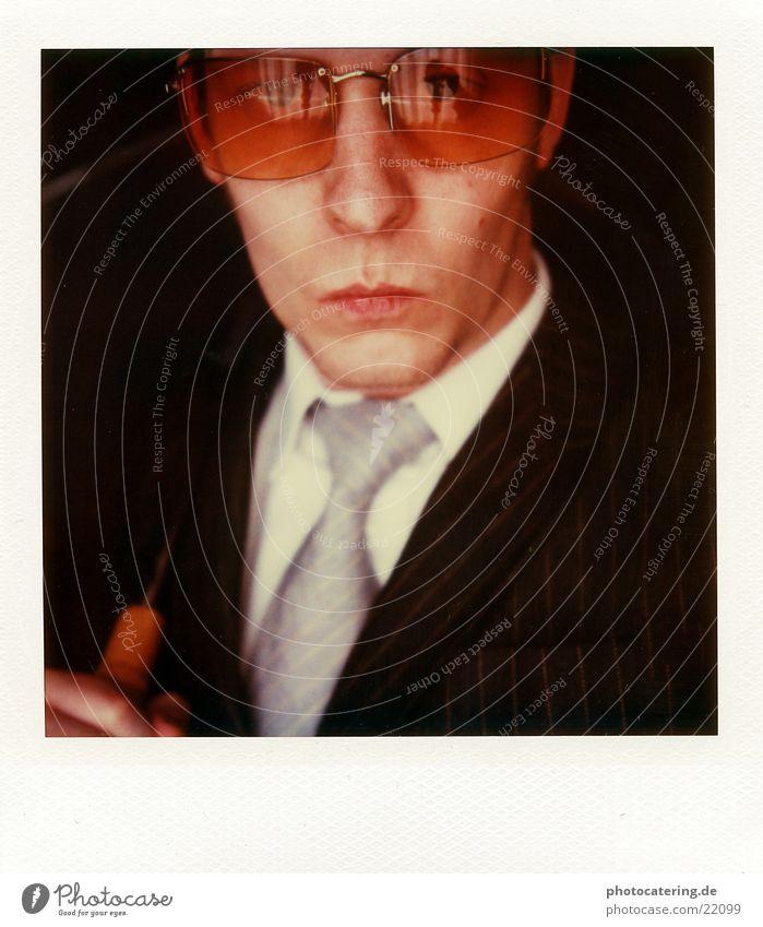 Man Eroticism Cold Adults Fashion Business Success Eyeglasses Cool (slang) Suit Tie Noble Businessman Reliability Pinstripe